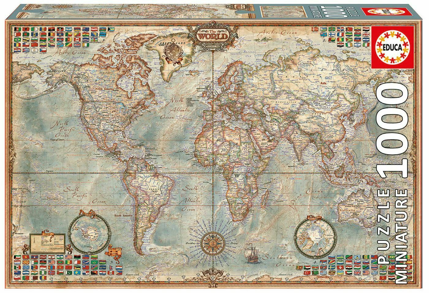 Pusle Political Map of the World