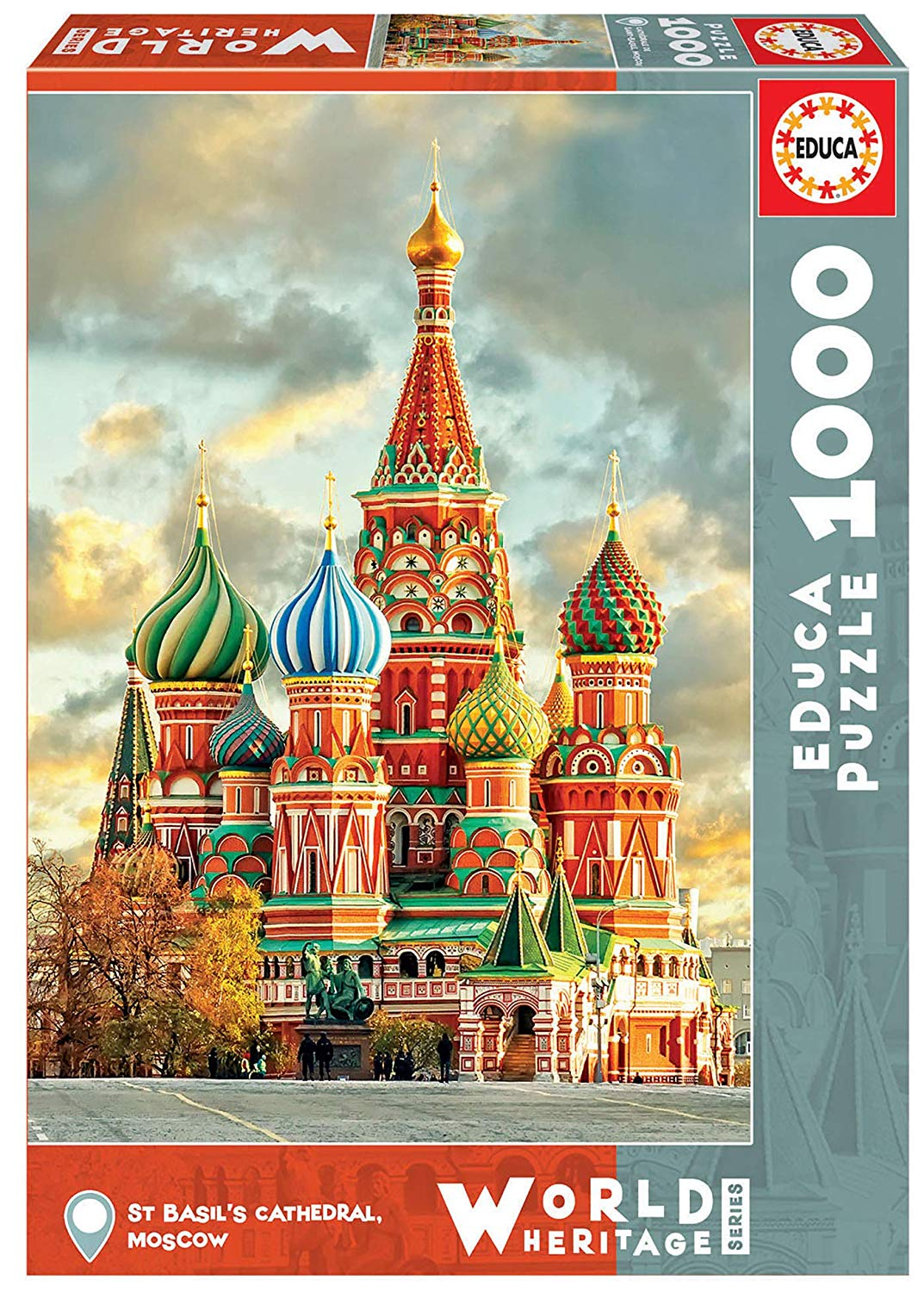 """Pusle """"ST BASIL'S CATHEDRAL, MOSCOW"""" 1000 tk"""