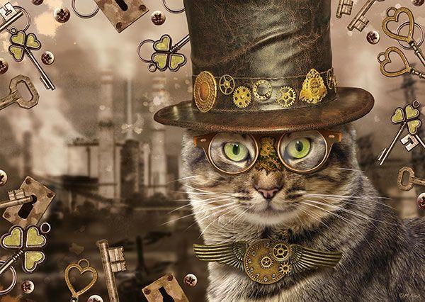 Steampunk cat