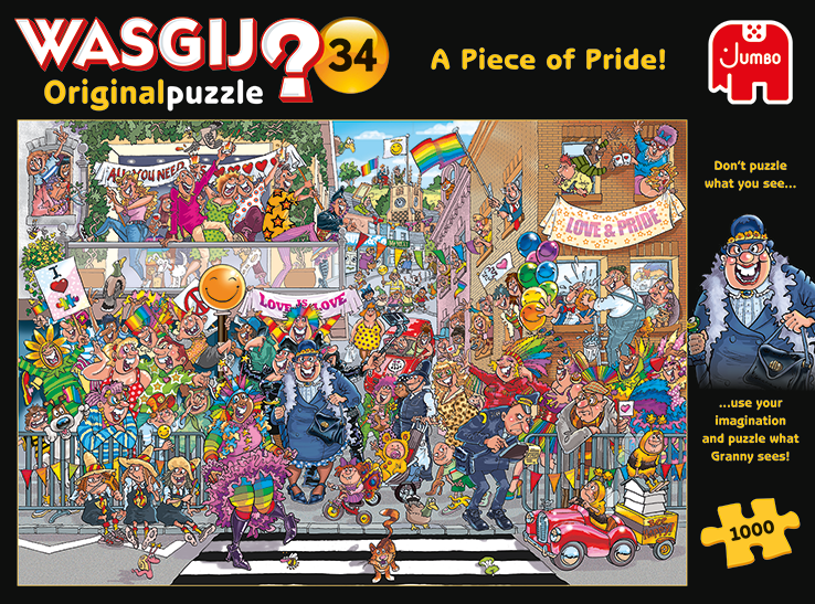 """Pusle """"Wasgij Original 34, Piece of Pride!"""" 1000 tk"""