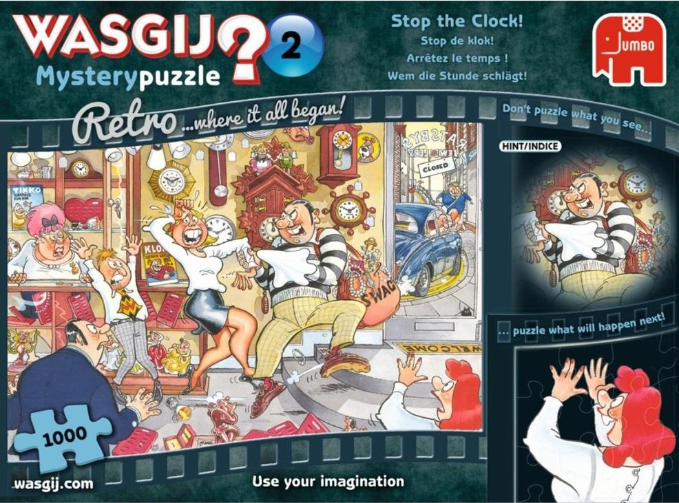 """Pusle """"Wasgij Retro Mystery 2, Stop the Clock!"""" 1000 tk"""