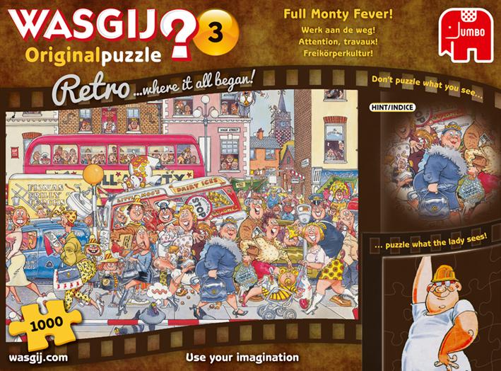 "Pusle ""Wasgij Retro Original 3, Full Monty Fever!"" 1000 tk"