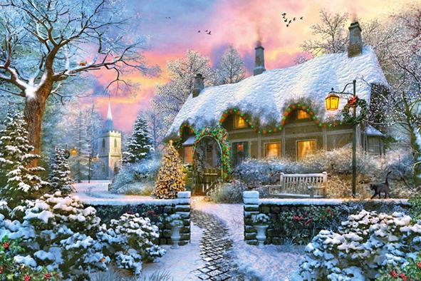 "Pusle ""Whitesmith's Cottage in Winter"" 1500 tk"