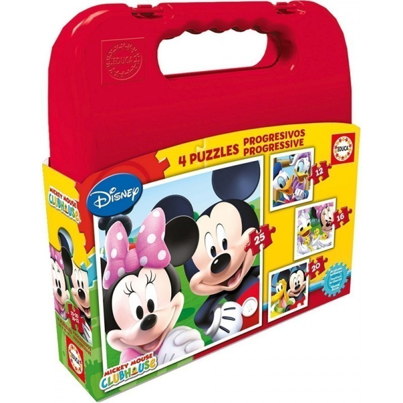 """Puslekohver """"Mickey Mouse 4 in 1"""" 12, 16, 20, 25 tk"""