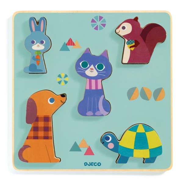 Wooden Puzzles - Relief puzzles - Moustacha