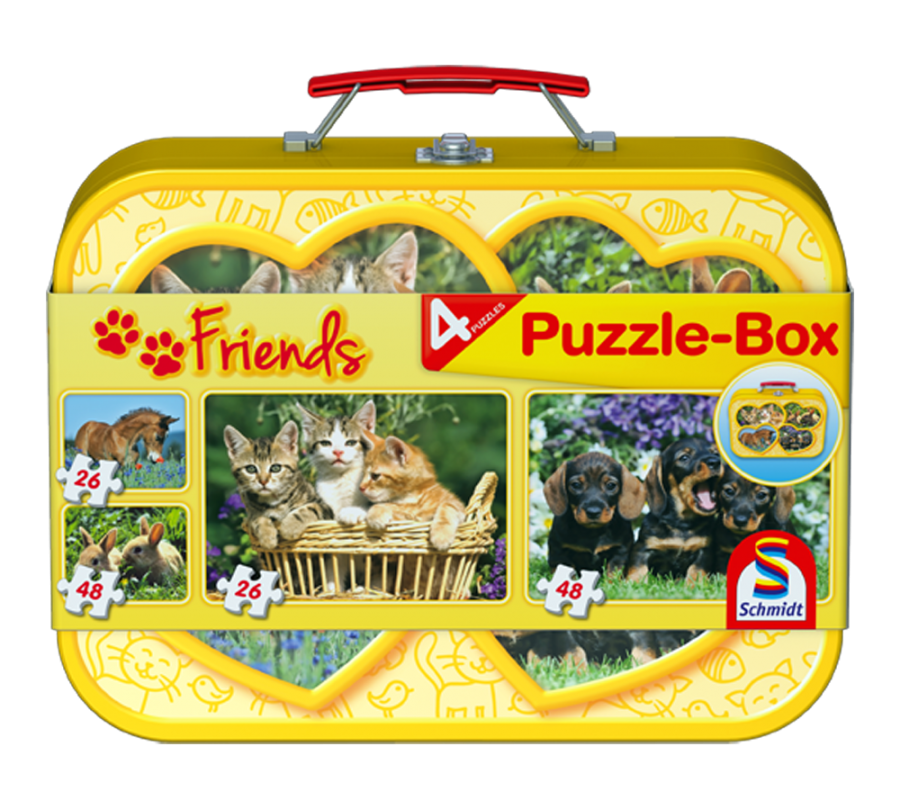 Pusle: Domestic Animals, Puzzle-Box, 2x26, 2x48