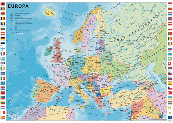 Pusle The Countries of Europe, 1000