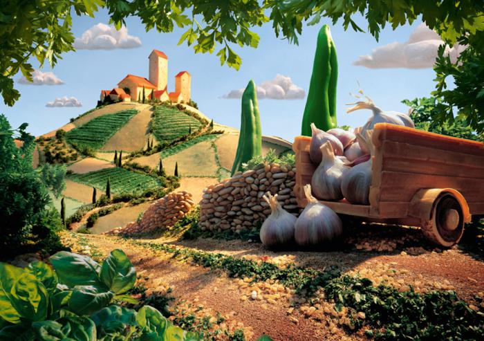Pusle Toskanische Landschaft, kulinarische, 1000