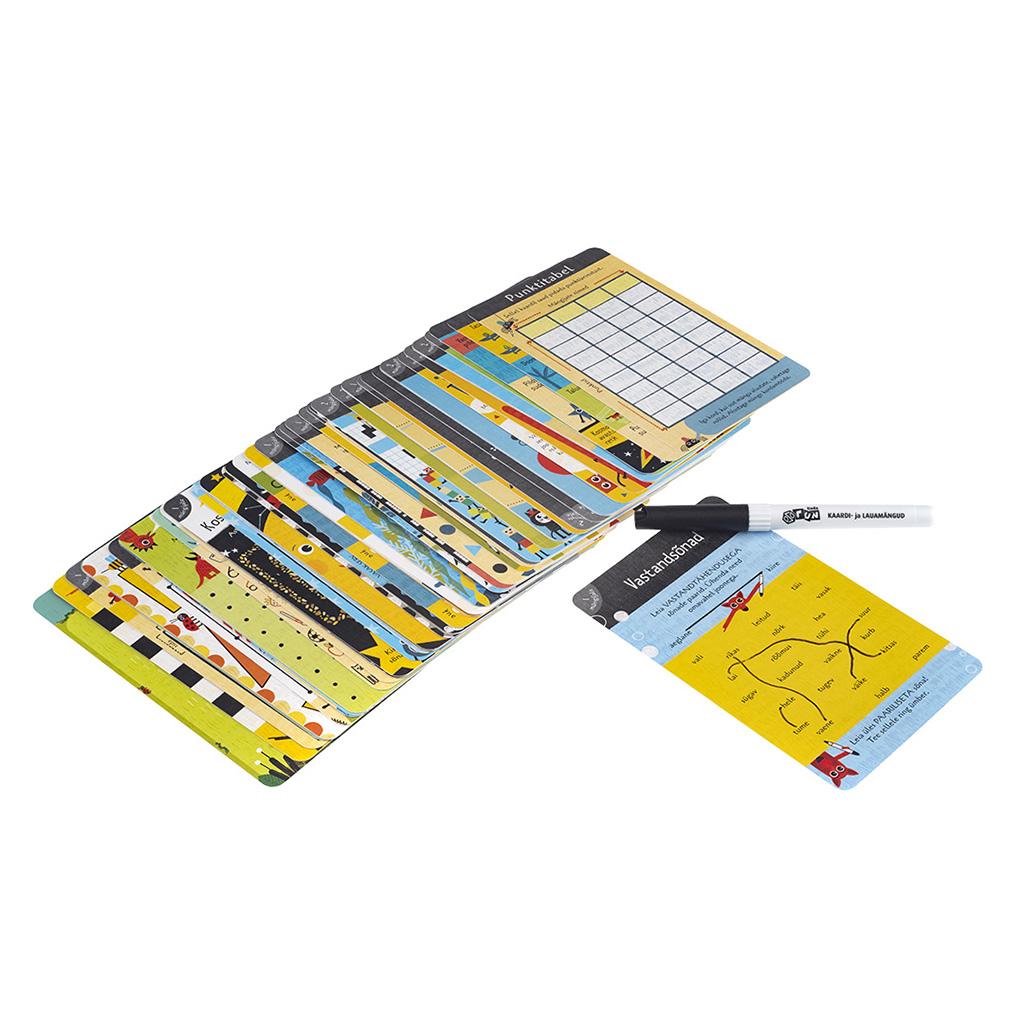 Paberi- ja pliiatsimängu teg.kaardid