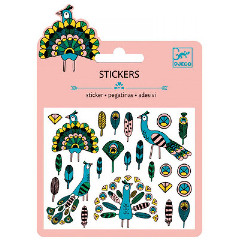 Small stickers - Feathers and peacocks