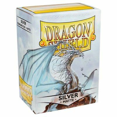 Dragon Shield Sleeves - Matte Silver