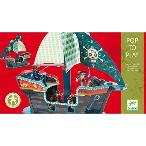 Pop to play - Piraatide laev 3D