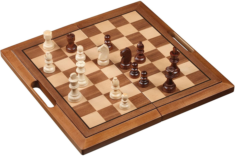 Schach-Backgammon-Dame-Set, Feld 40 mm