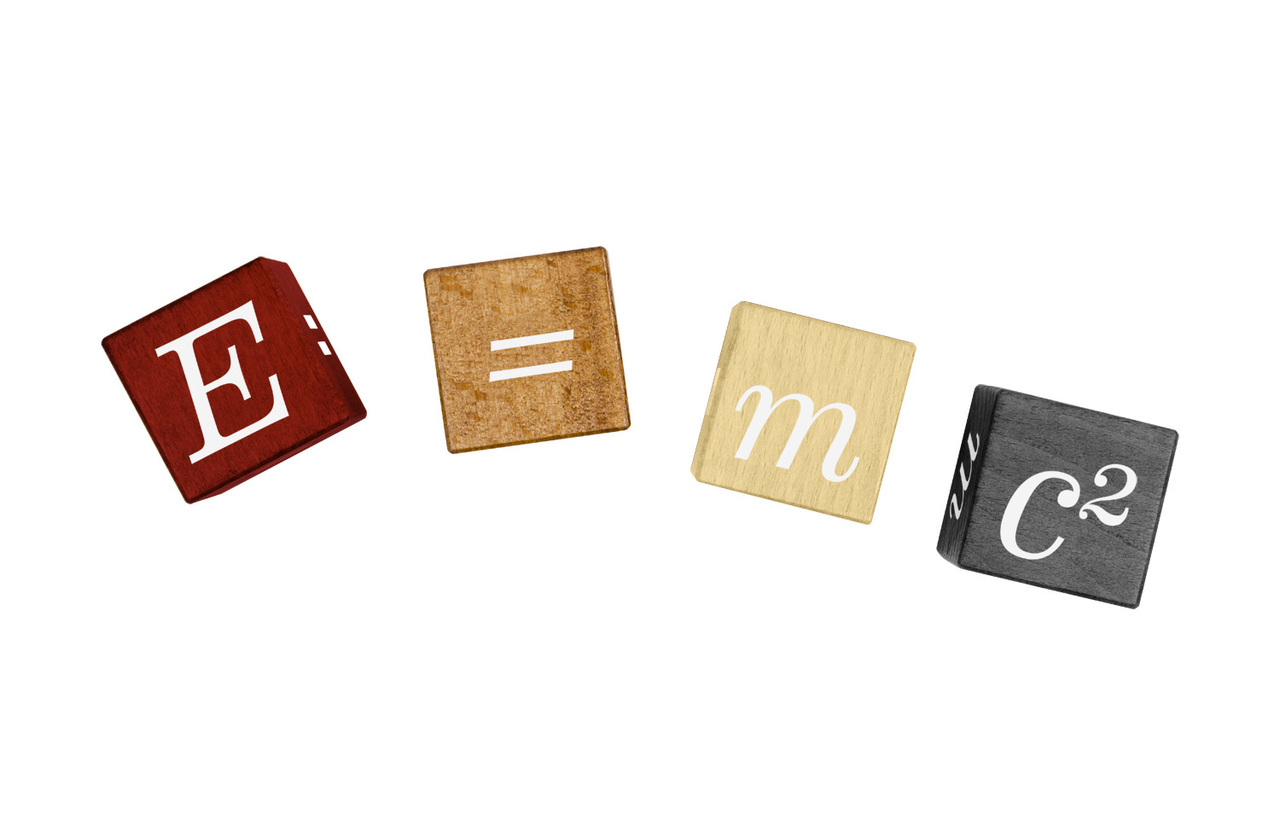 Einstein Collection; E=MC2 Puzzle Blocks