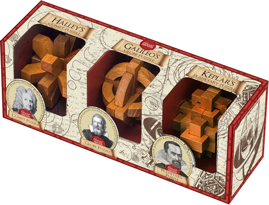 Great Minds Set of 3 - (Halley, Galileo and Kepler)