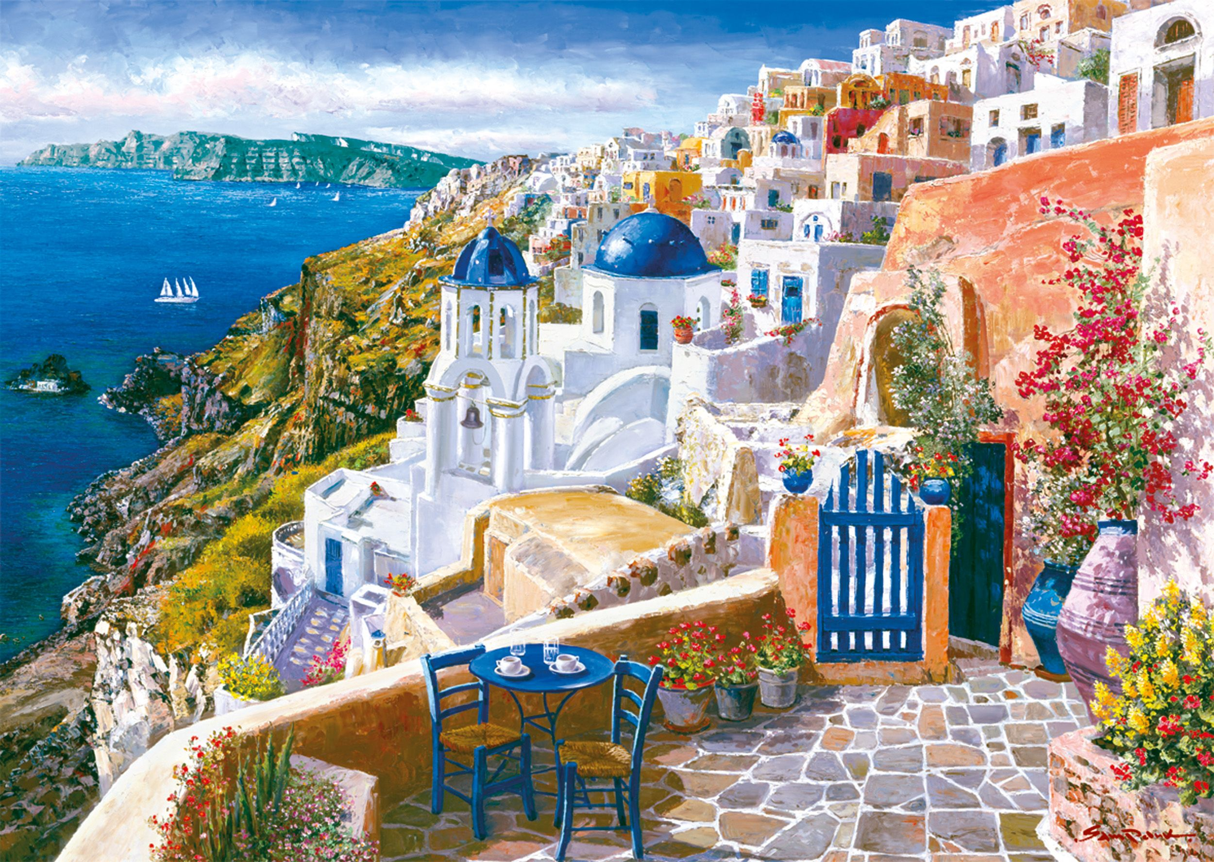 """Pusle """"View from Santorin"""" 1000tk"""