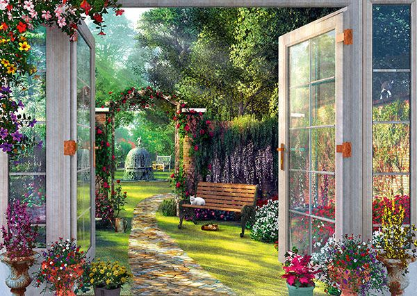 "Pusle ""View of the Enchanted Garden"" 1000 tk"