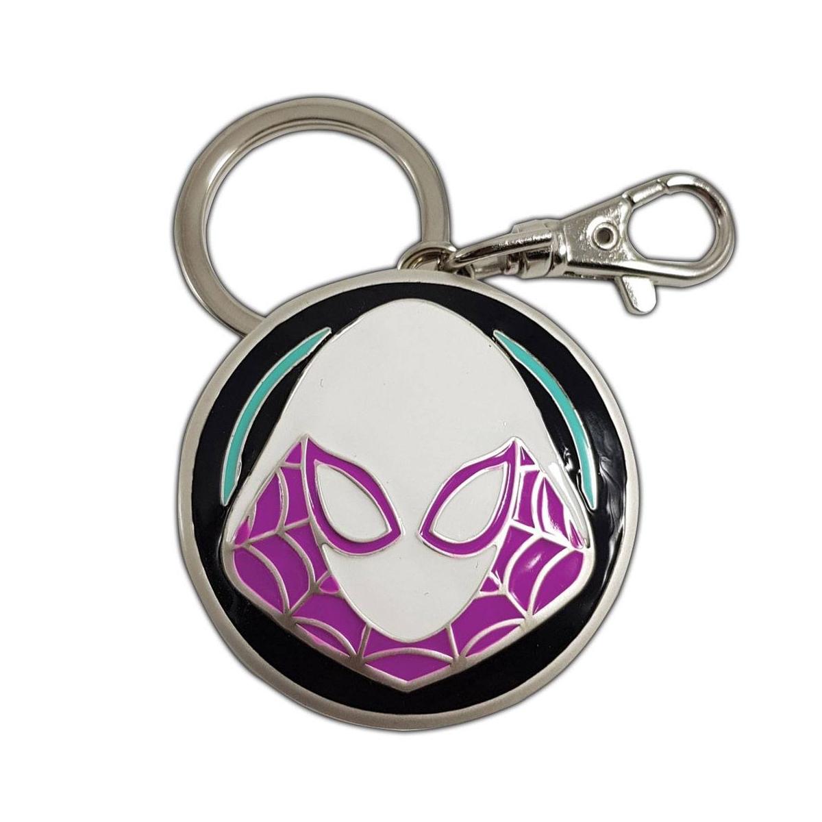 Marvel Comics Metal Keychain Spider-Gwen Logo