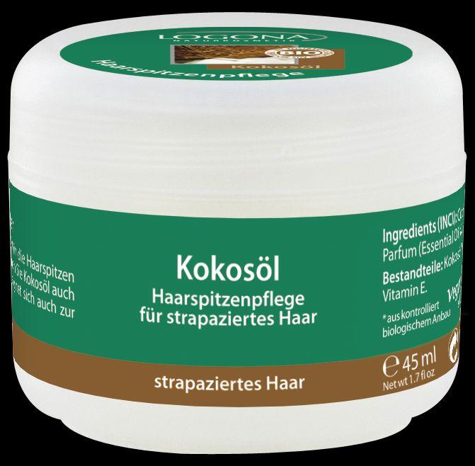 Kookosõli juukseotste hoolduseks Logona, 45 ml