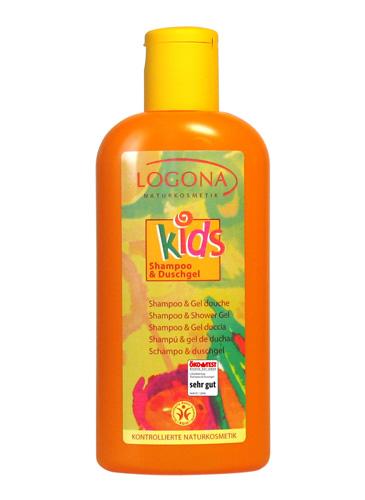 Laste šampoon ja dušigeel Logona, 200 ml