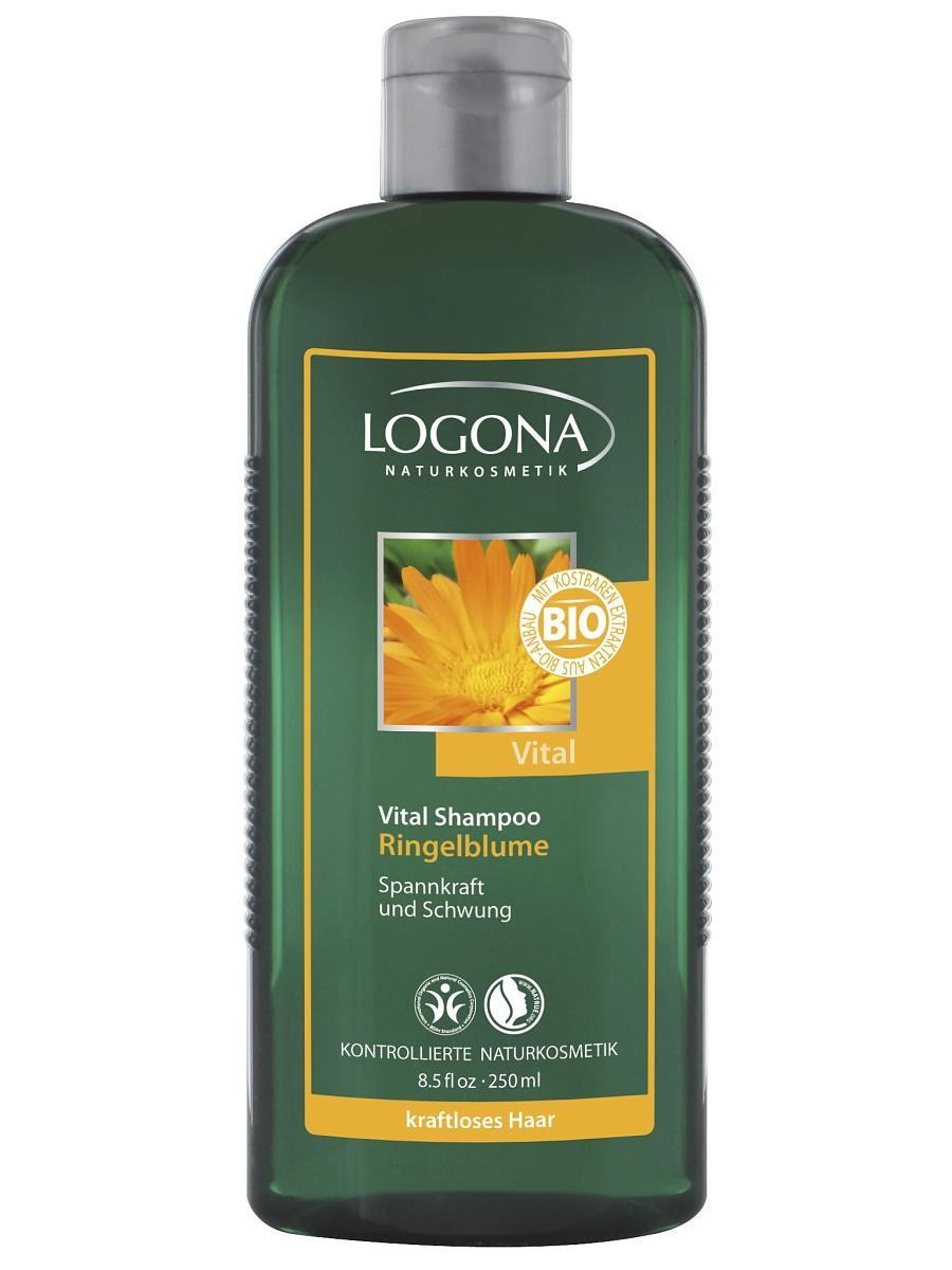Elujõudu andev šampoon saialillega Logona, 250 ml