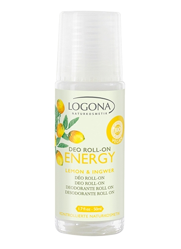 ENERGY deodorant roll on sidrun ja ingver Logona, 50 ml