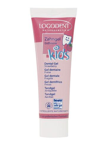 Laste maasikamaitseline hambageel Logona, 50 ml