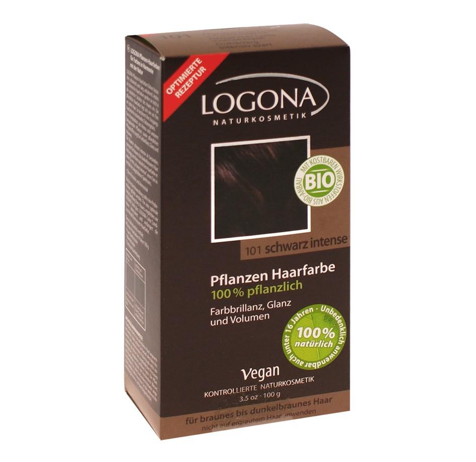 Herbal Henna pulbervärv intensiivne must 101 Logona, 100 g