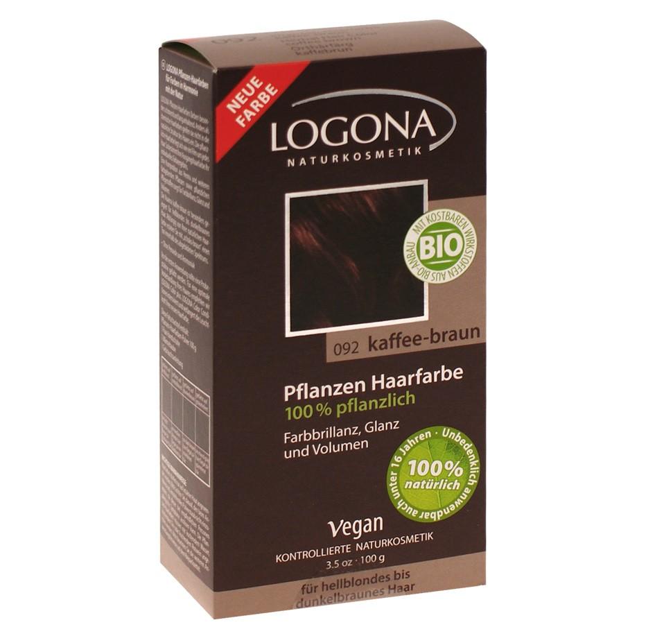 Herbal Henna pulbervärv kohvipruun 092 Logona, 100 g