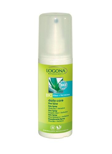 Deospray deodorant Bio aloe & raudürt Logona, 100 ml