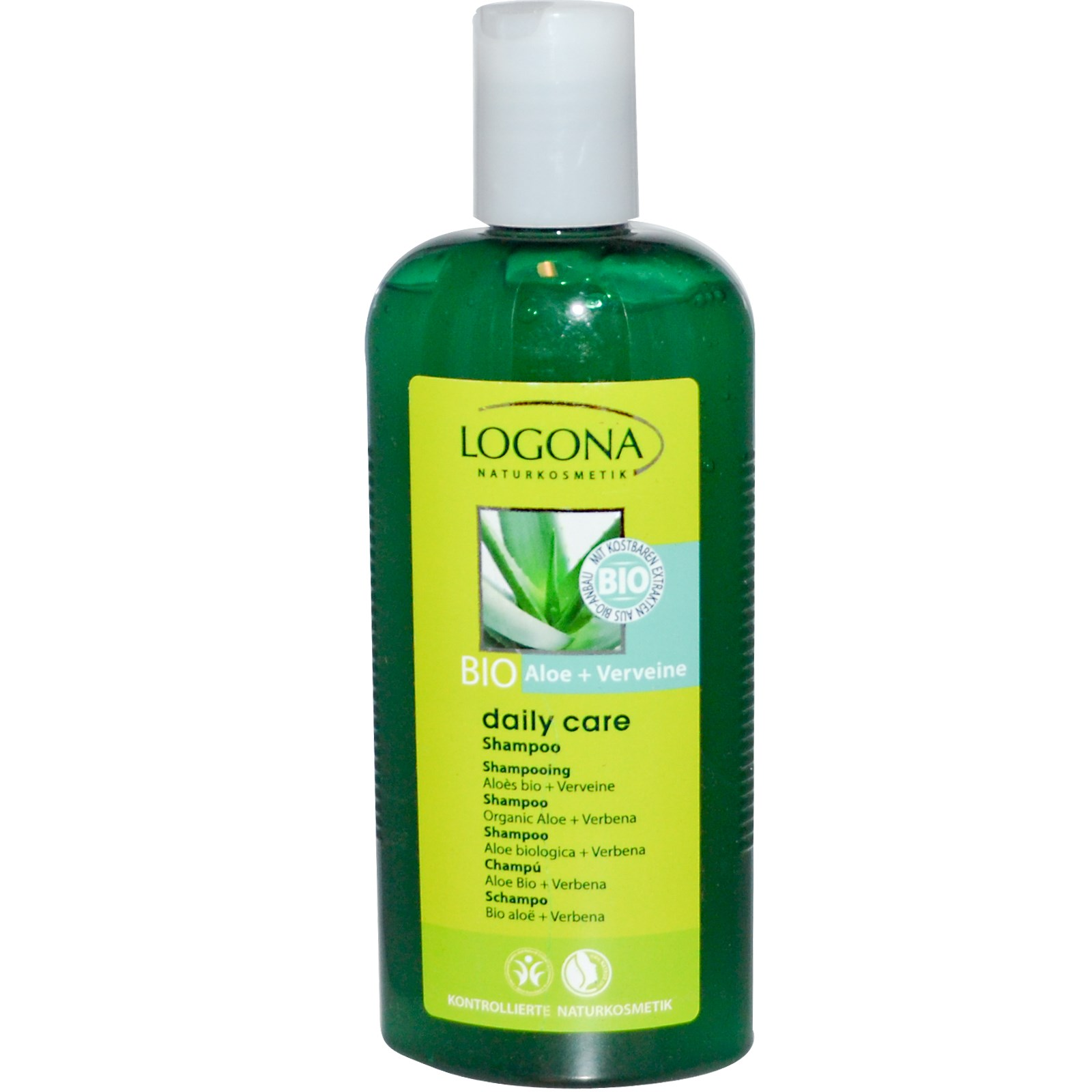 Šampoon aloe & raudürt Logona, 250 ml