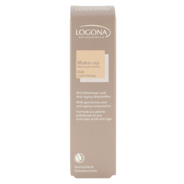 Make Up-kreem Natural Finish 02 Light beige Logona, 30 ml