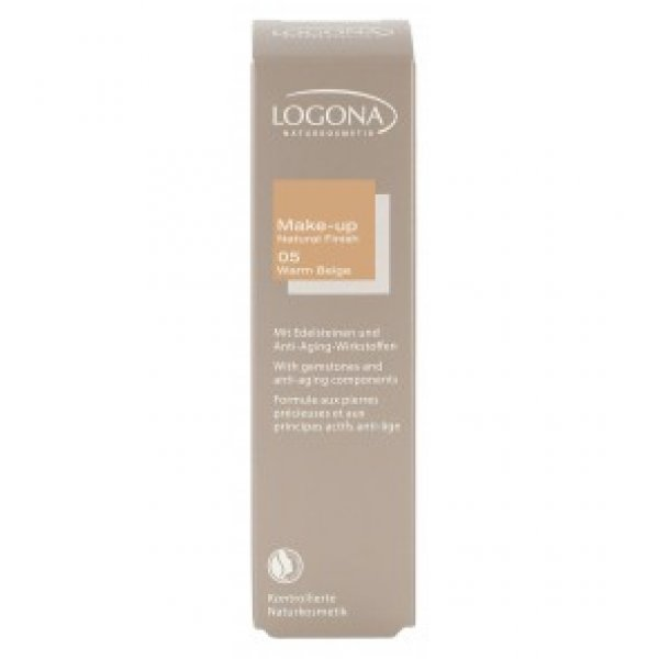 Make Up-kreem Natural Finish 05 Warm beige Logona, 30 ml