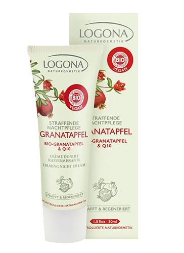 Granaatõuna öökreem + Q10 Logona, 30 ml