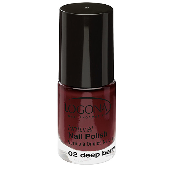 Natural Nail küünelakk 02 deep berry Logona, 4 ml