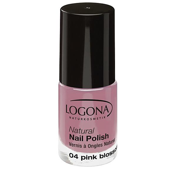 Natural Nail küünelakk 04 pink blossom Logona, 4 ml