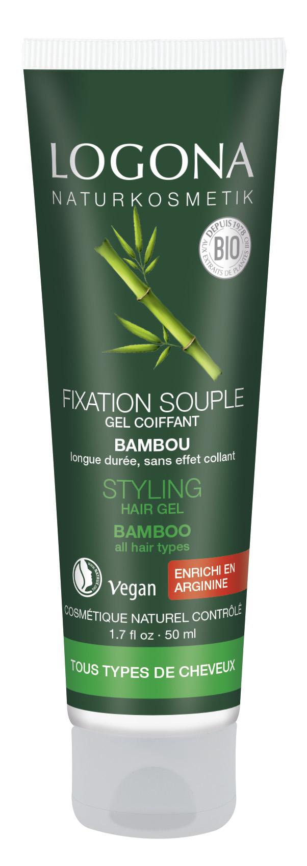Juuksegeel Bambus Logona, 50 ml