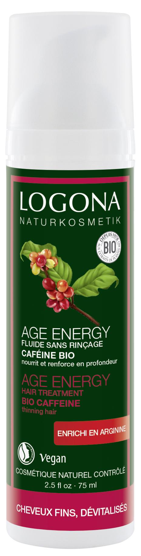 Age Energy kofeiiniga juuksehooldussprei Logona, 75 ml