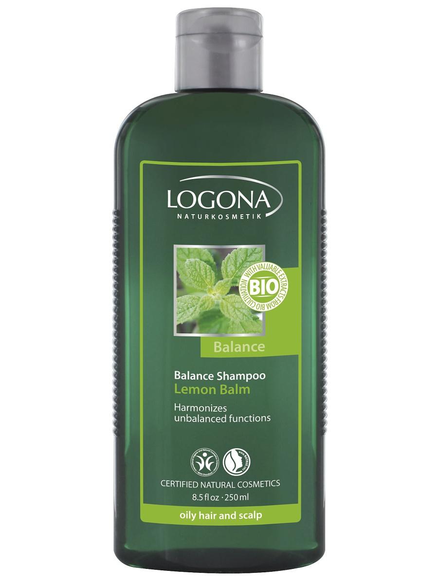Tasakaalustav šampoon sidrunmelissiga rasustele juustele ja õrnale peanahale Logona, 250 ml