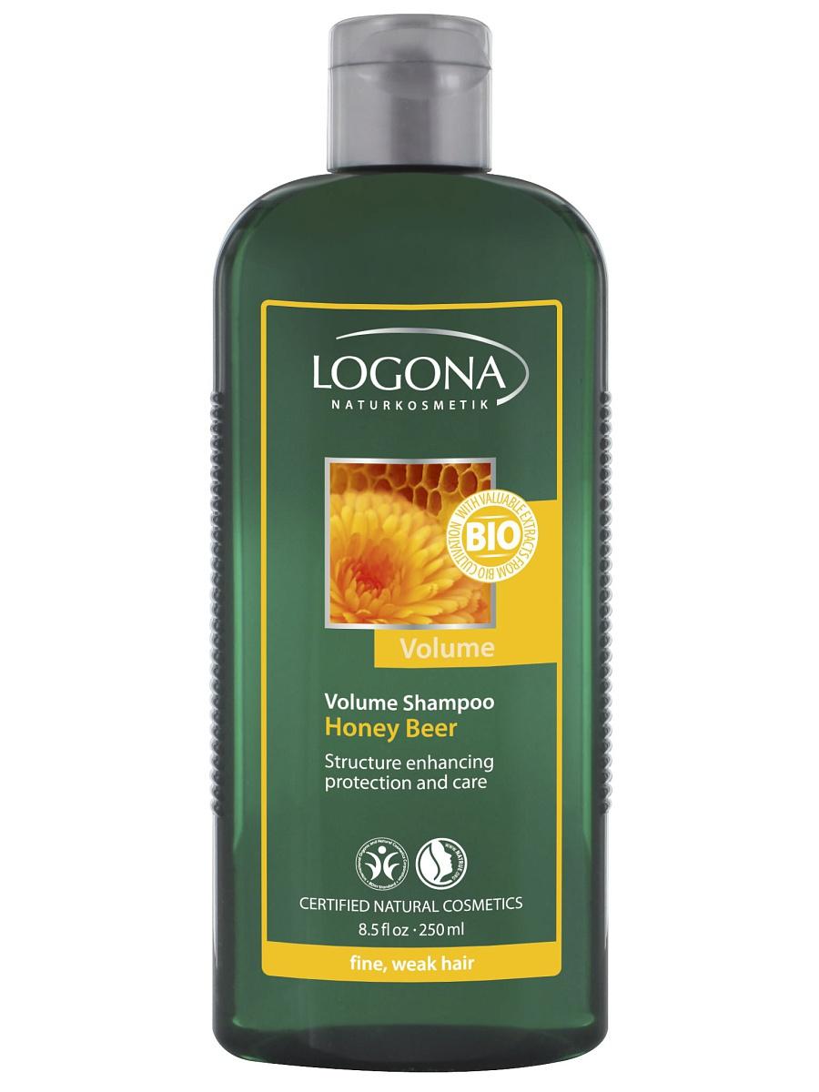Mee-õlle volüümi lisav šampoon peenikestele ja habrastele juustele Logona, 250 ml
