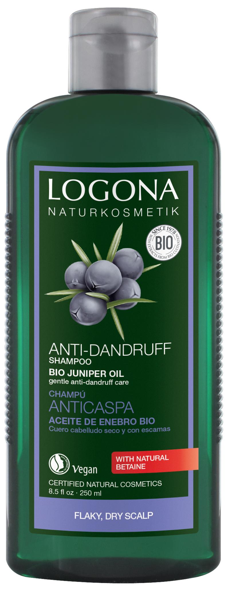 Hooldav šampoon kadakaga kõõmavastane Logona, 250 ml