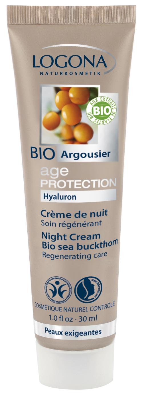 Öökreem astelpajuga Age Protection Logona, 30 ml