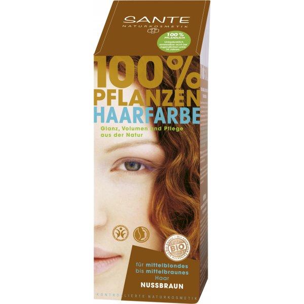 Pure Herbal juuksevärv pähklipruun Sante, 100 g