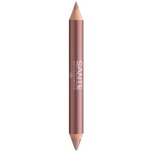 Värv + kontuur kahepoolne huulepliiats Natural look 01 Sante, 4 g