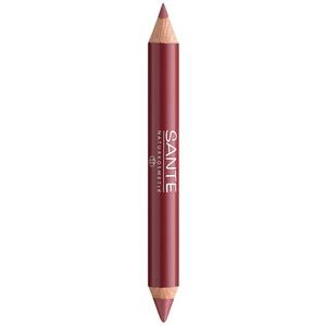 Värv + kontuur kahepoolne huulepliiats Natural look 02 Sante, 4 g