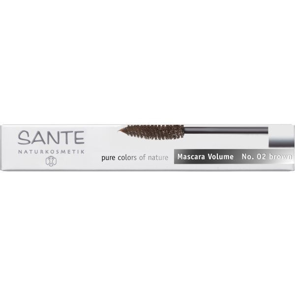 Ripsmetušš Mascara Volume Brown 02 Sante, 7 ml