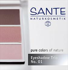 Lauvärvide trio roosa Rose 01 Sante, 4,5 g