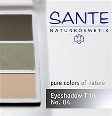 Lauvärvide trio naturaalne roheline N. green 04 Sante, 4,5 g