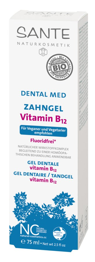 Vitamiiniga B12 floriidivaba hambapesugeel Sante, 75 ml