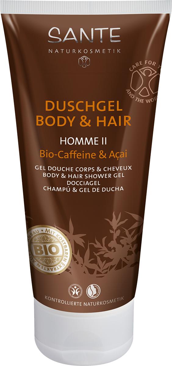 Homme II dušigeel Body & Hair meestele Sante, 200 ml